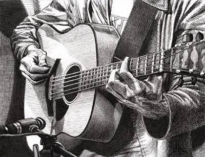 Oscar Plays Guitar Poster by David Clemons
