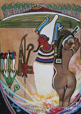 Blaa Kattproduksjoner         Osiris With Goddess Isis And 4 Grandkids Poster