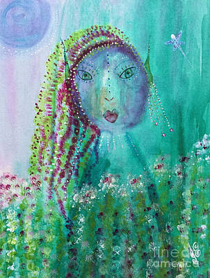 Poster featuring the painting Ostara by Julie Engelhardt
