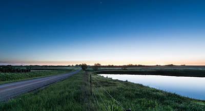 Otoe Plains Sunset Poster by Nathan Hillis