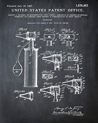 Otoscope Patent 1927 Chalk Poster