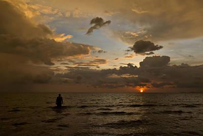 Otres Beach Sunset Poster