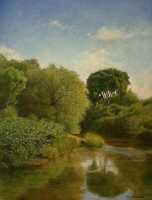 Poster featuring the painting Otselic River by Wayne Daniels