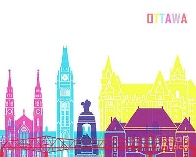 Ottawa V2 Skyline Pop Poster