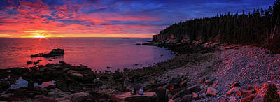 Poster featuring the photograph Otter Beach Maine Sunrise  by Emmanuel Panagiotakis