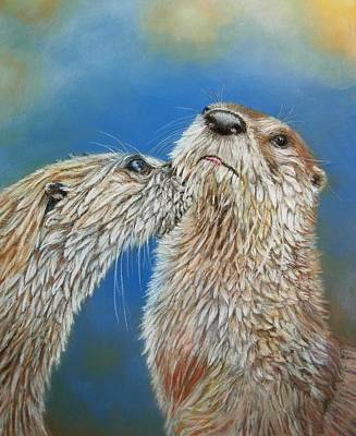 Otter Love Poster by Ceci Watson