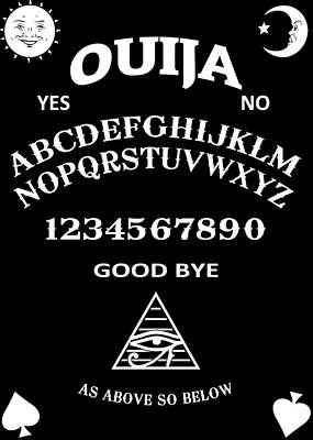 Poster featuring the digital art Ouija by Nicklas Gustafsson