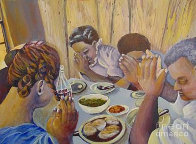 Poster featuring the painting Our Daily Bread by Saundra Johnson