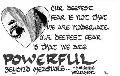 Our Deepest Fear Poster by Mary Beth Harris Maassen