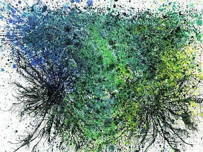 Our Earth Is Always Breathing #534 Poster by Rainbow Artist Orlando L aka Kevin Orlando Lau