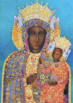 Our Lady Czestochowa Black Madonna Poster by Magdalena Walulik