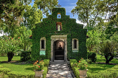 Poster featuring the photograph Our Lady Of Le Leche Chapel St. Augustine Florida   -   Ladyoflelechechapel122921 by Frank J Benz