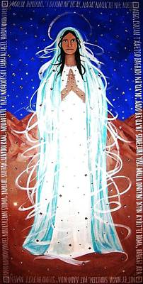 Poster featuring the painting Our Lady Of Lucid Dreams by Michelle Dallocchio