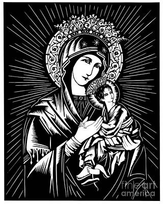 Our Lady Of Perpetual Help - Dpolh Poster by Dan Paulos