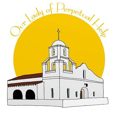 Our Lady Of Perpetual Help Adobe Mission Scottsdale Arizona Poster by Priscilla Wolfe