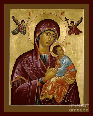 Our Lady Of Perpetual Help - Rloph Poster by Br Robert Lentz OFM