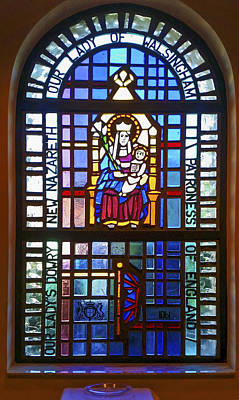 Our Lady Of Walsingham Window Poster