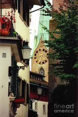 Our Ladys Minster Church In Zurich Switzerland Poster by Susanne Van Hulst