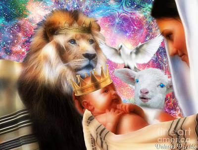 Poster featuring the digital art Our Saviors Birth by Dolores Develde