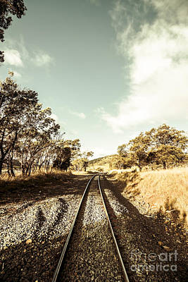Outback Country Railway Tracks Poster by Jorgo Photography - Wall Art Gallery
