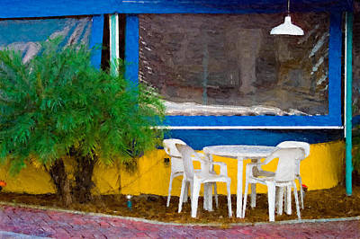 Outdoor Cafe  Poster