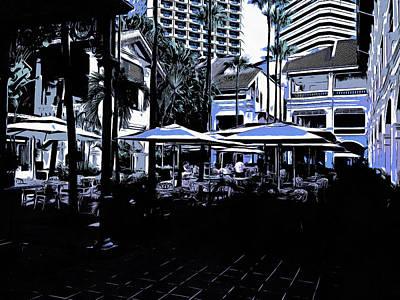 Outdoor Restaurants Poster by Ashish Agarwal