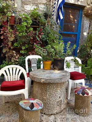 Outdoor Spot Greece Mesta Poster by Viktoriya Sirris