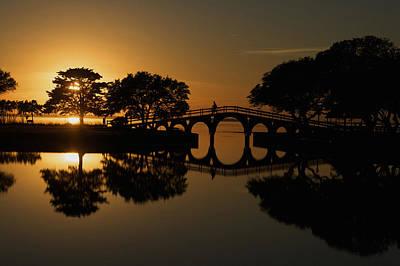 Outer Banks Sunset Poster by Mark Wagoner
