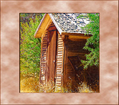 Poster featuring the photograph Outhouse 1 by Susan Kinney