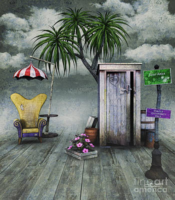 Outhouse Poster by Jutta Maria Pusl