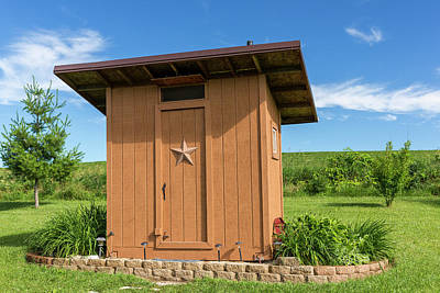 Outhouse Star 1 A Poster by John Brueske