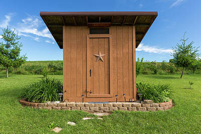 Outhouse Star 1 B Poster by John Brueske