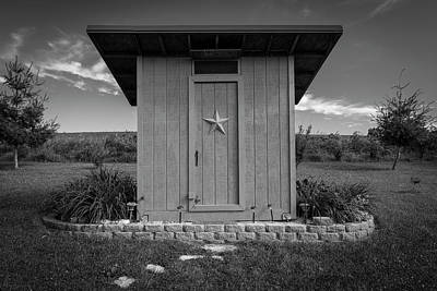 Outhouse Star 1 B Monochrome Poster by John Brueske
