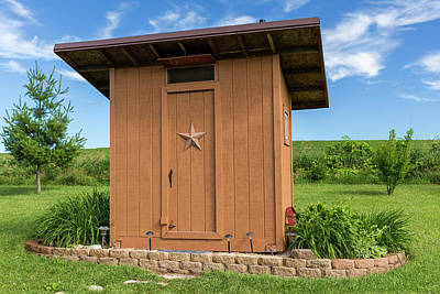 Outhouse Star 1 C Poster by John Brueske