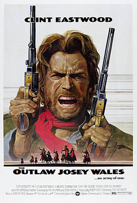 Outlaw Josey Wales Theater Lobby Poster  1976 Poster by Daniel Hagerman