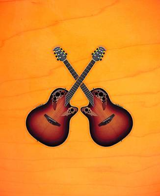 Ovation Acoustic Guitar Poster by Doron Mafdoos