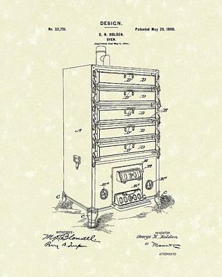 Oven Design 1900 Patent Art Poster by Prior Art Design