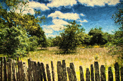 Over The Fence Poster by John K Woodruff
