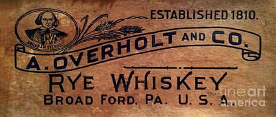 Overholt Rye Whiskey Sign Poster by Jon Neidert