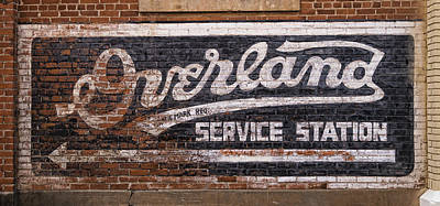 Overland Service Station Poster by Stephen Stookey