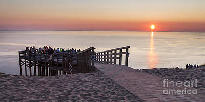 Overlook Panorama At Sleeping Bear Dunes Poster by Twenty Two North Photography