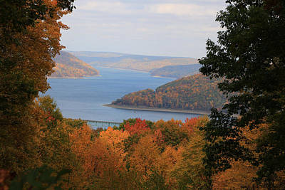 Poster featuring the photograph Overlooking Kinzua Lake by Rick Morgan
