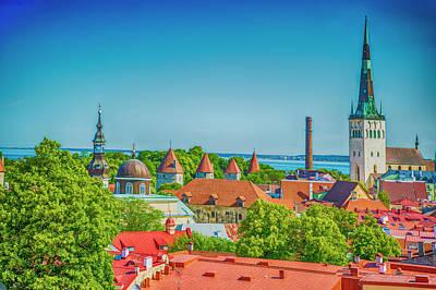 Overlooking Tallinn Poster