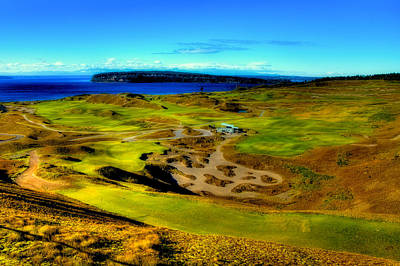 Overlooking The Chambers Bay Golf Course Poster