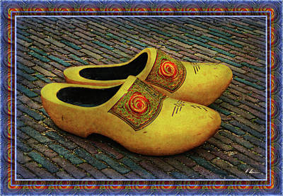 Poster featuring the photograph Oversized Dutch Clogs by Hanny Heim