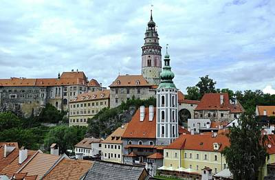 Overview Of Cesky Krumlov Poster by Kirsten Giving