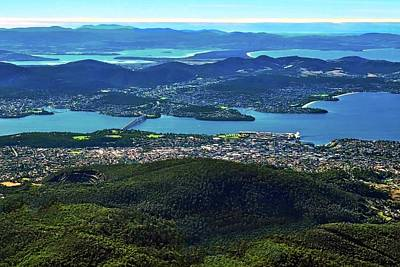 Overview Of Hobart Tasmania Poster