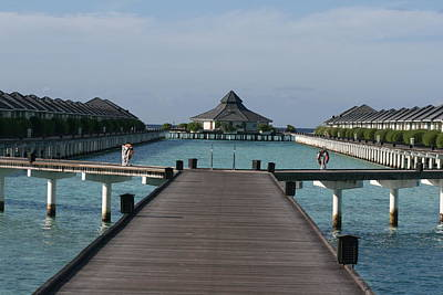 Overwater Bungalows Poster