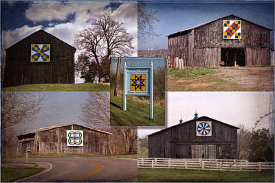 Owen County Quilt Trail, Kentucky Poster by Rebecca Snyder