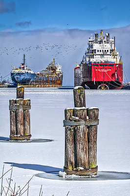 Owen Sound Winter Harbour Study #4 Poster